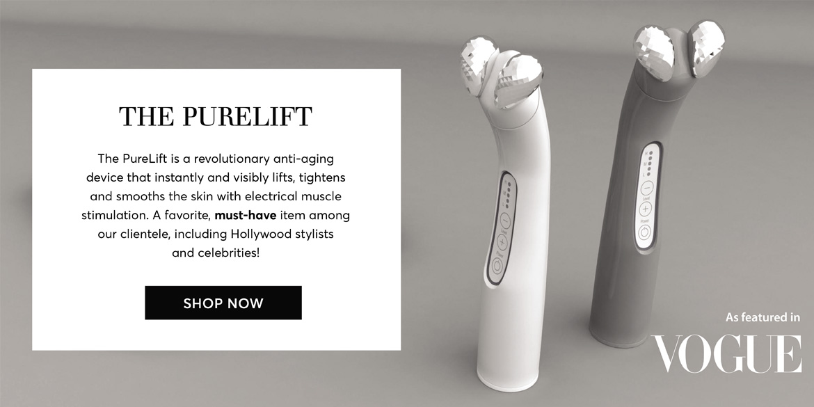 PureLift anti-aging device as seen in Vogue Magazine - shop at Silver Mirror Facial Bar NYC